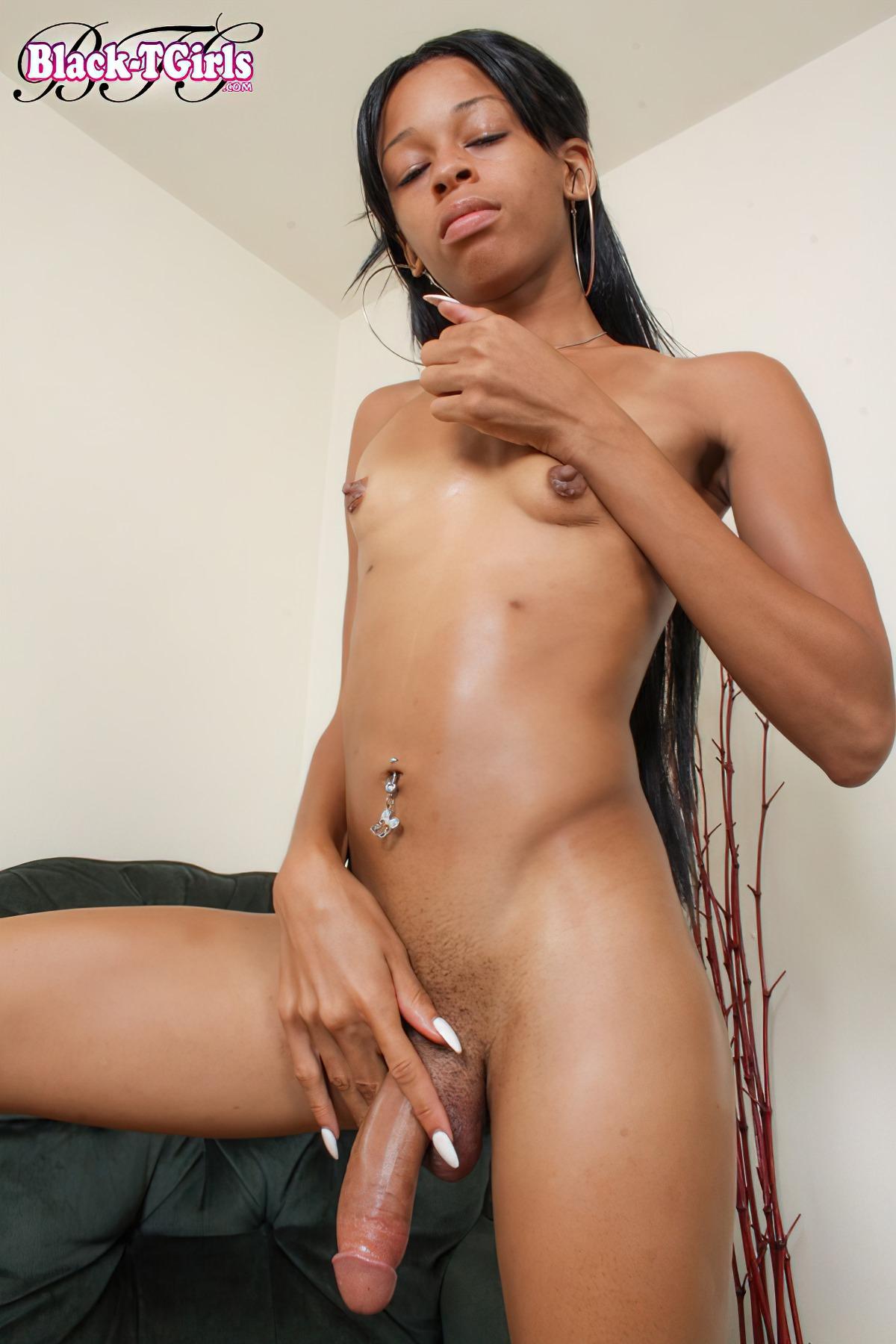Shemale Negra com Pénis Grande (1)