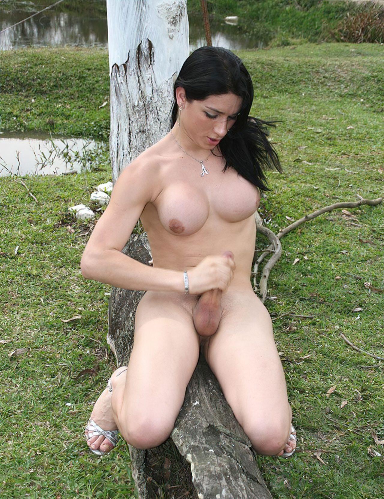 Transex Gozando Natureza (6)