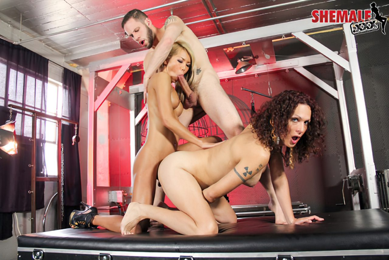 Travesti Threesome (4)