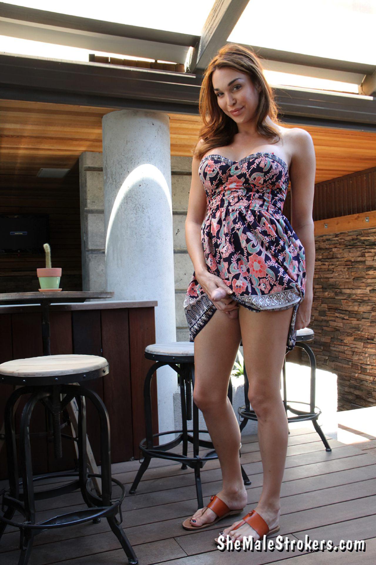 Travesti Vestido Sem Calcinha (2)
