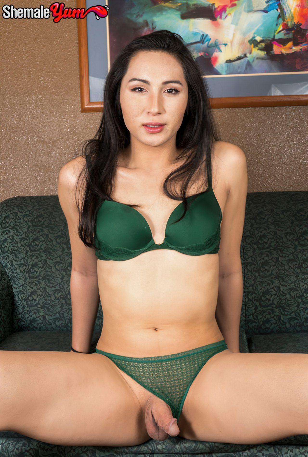 Trans Oriental Despindo Lingerie Verde (4)